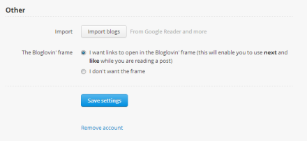 My Morning Coffee- Bloglovin' 'Import Blogs' Button