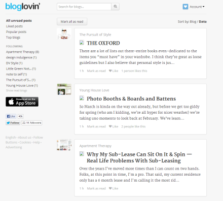 My Morning Coffee- Bloglovin' Screen Shot