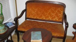 My Morning Coffee- Antique Love Parlor Seat and Chair on Craigslist