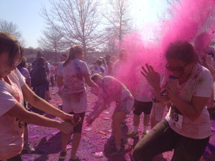 My Morning Coffee- Color Celebration at the end of the Color Mania 5K
