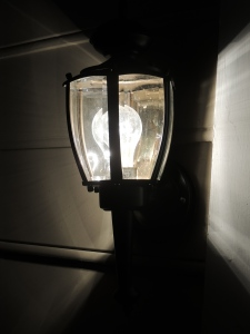 My Morning Coffee Blog- Exterior Lights Makeover